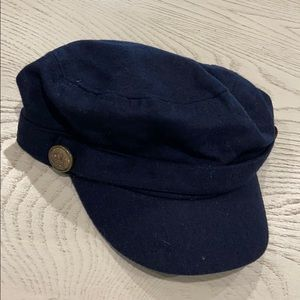 NEW ALDO NAVY BLUE WITH GOLD BUTTON HAT
